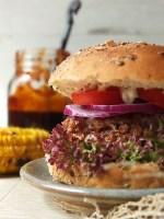 BBQ Iron Age Pork Burger with Sticky 5 Spice BBQ Sauce