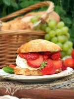 Strawberry Shortcake with Balsamic & Black Pepper Syrup