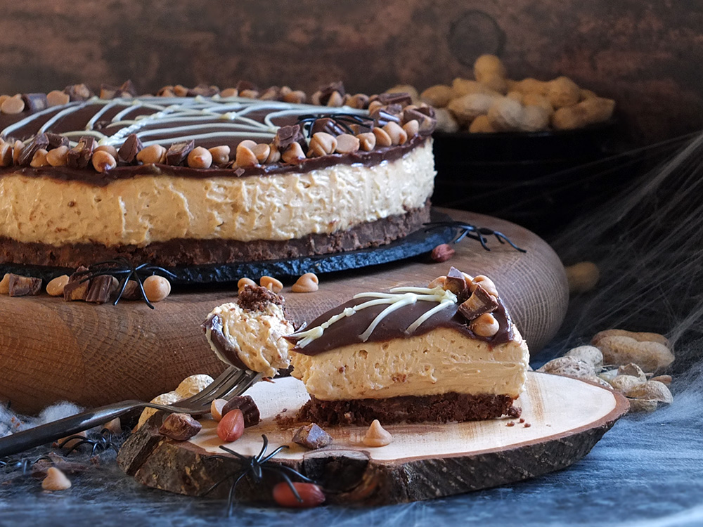 Creamy Skippy Peanut Butter Cheesecake slice picture