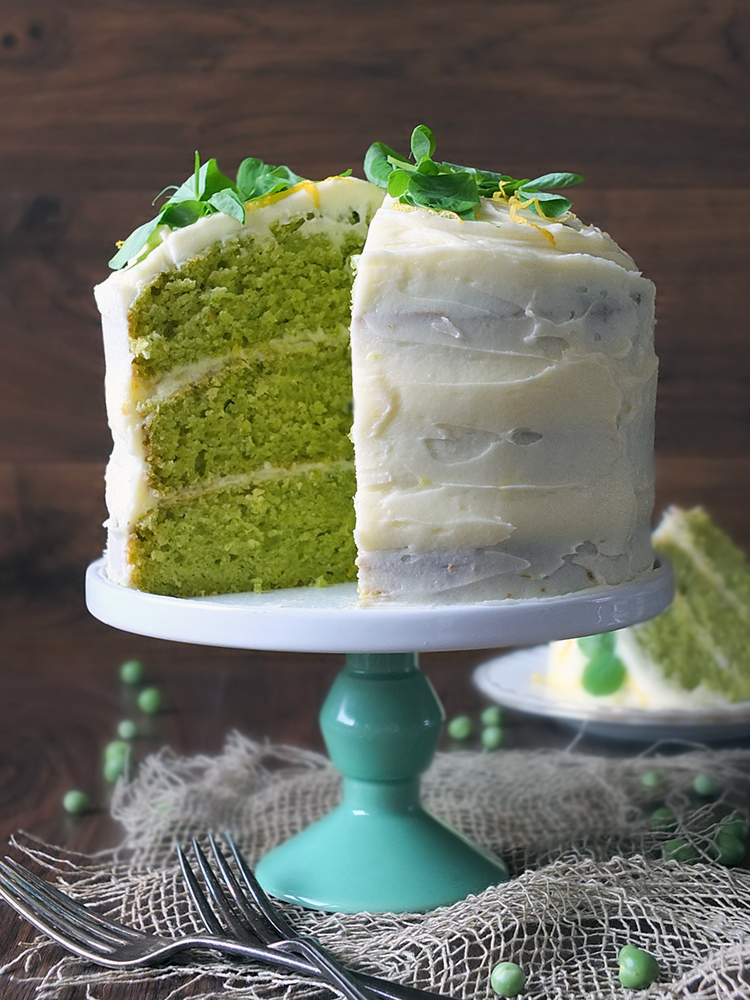 Pea And Vanilla Cake With Lemon Icing Elizabeth S