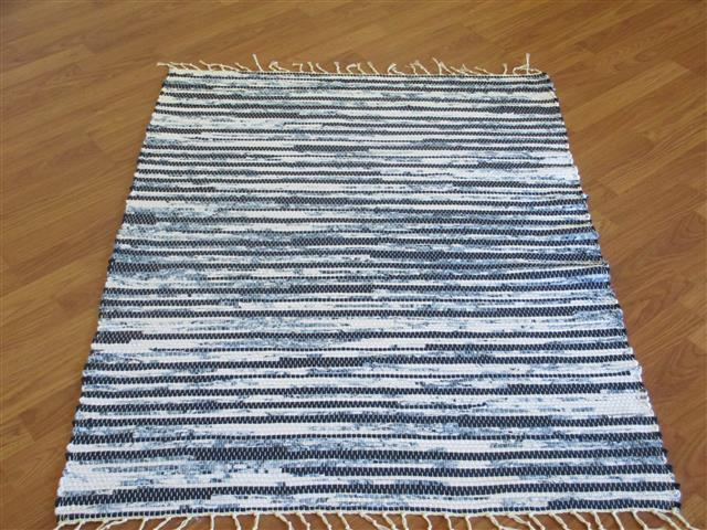 Handwoven rag rugs three feet wide  Elizabeths Loom Room