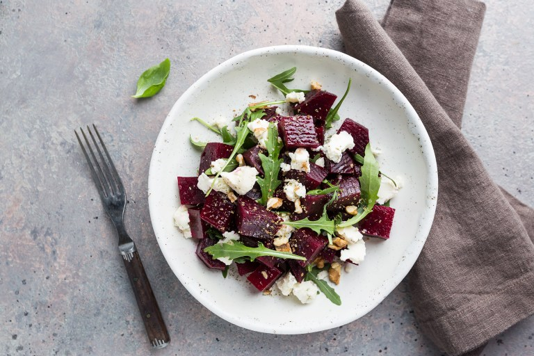 beet and goat cheese salad, beet salad, beet salad with cheese, cooked beets, summer beet salad, beet salad with goat cheese recipe, beet salad recipe, Elizabeth Sutton Collection