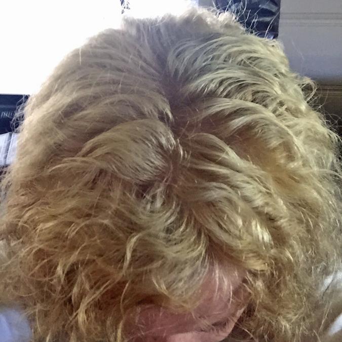 white blond hair