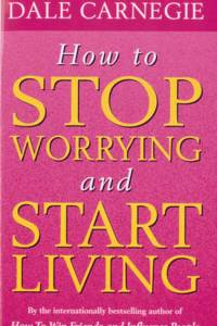 how to stop worrying and start living dale carnegie book pink