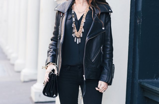 Leather for sleeves and fringe for ankles | thevillagevogue.com