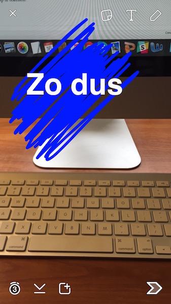kleur achter tekst op snapchat