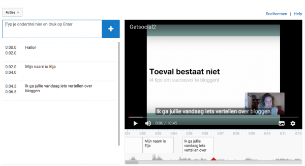 video ondertitelen youtube