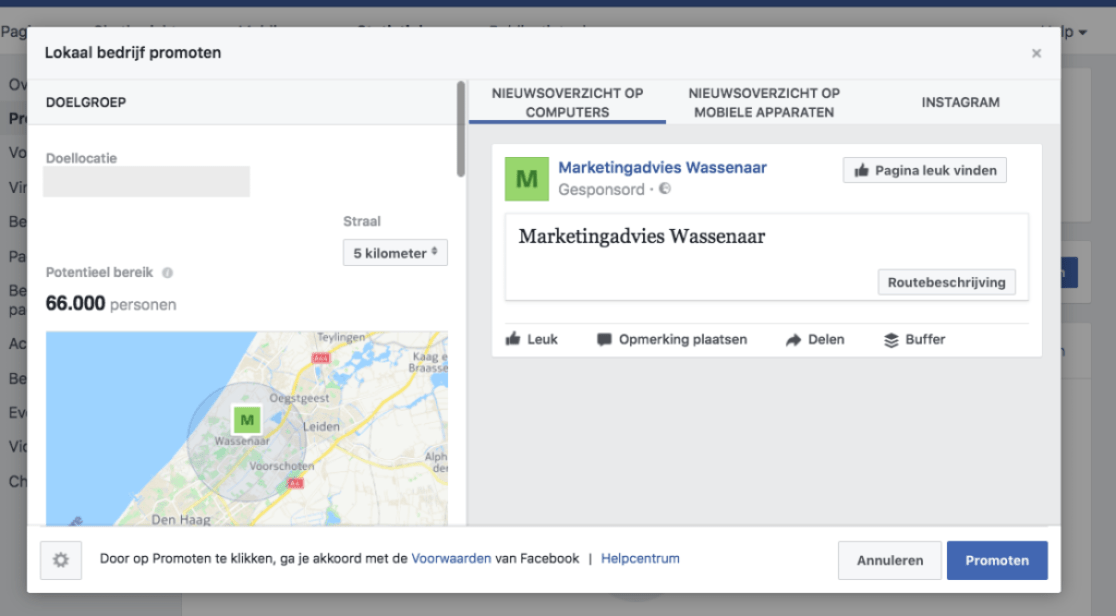 facebook locatiemarketing