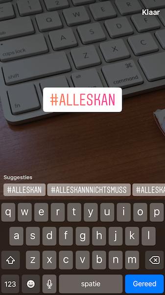 toevoegen hashtag instagram stories 4