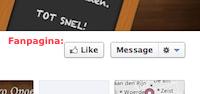 Facebook like fanpagina