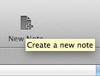 Evernote nieuwe notitie
