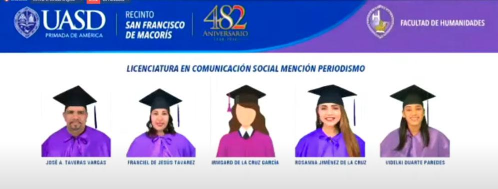 graduados en licenciatura de comunicacion uasd san francisco de macoris