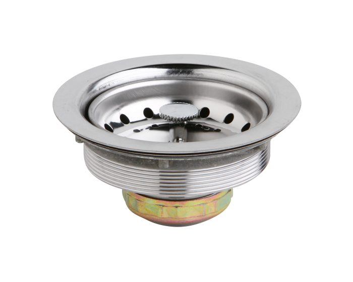 dayton 3 1 2 stainless steel drain with removable basket strainer and rubber stopper