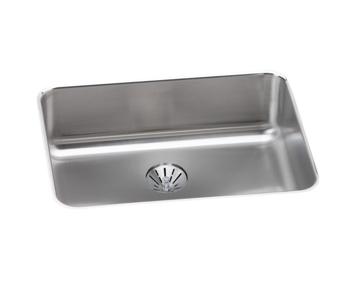 elkay lustertone classic stainless steel 25 1 2 x 19 1 4 x 8 single bowl undermount sink with perfect drain