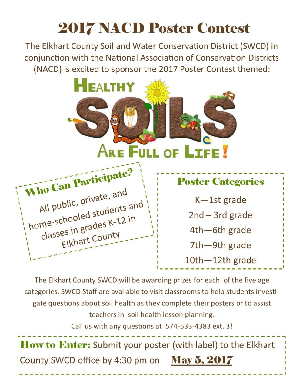 medium resolution of Poster Contest 2017 – Our mission is to assist landusers and other agencies  in the wise use of natural resources in Elkhart County.