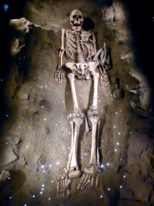 Skelett Mensch von Mondeval