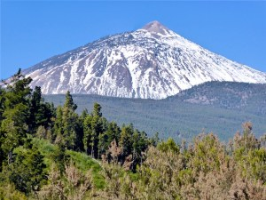 Teneriffa Pico de Teide im Schnee