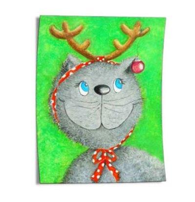 Weihnachtskatze-Lina