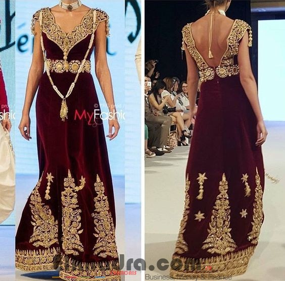 Robe constantinoise moderne - Robe traditionnelle algerienne 2