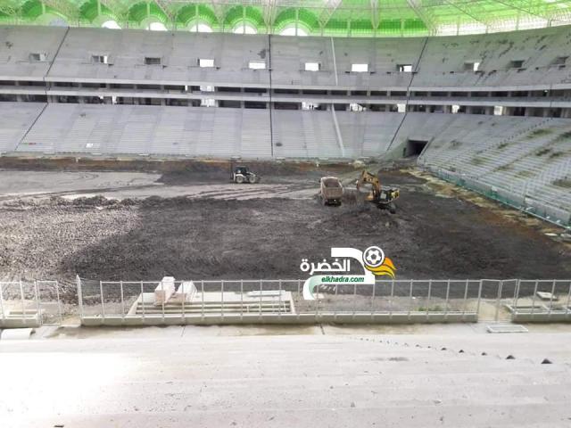 بالصور .. انطلاق أشغال تهيئة أرضية ملعب تيزي وزو الجديد 25