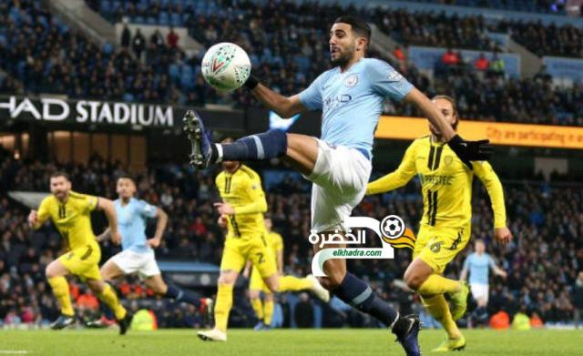 مانشستر سيتي 9 -0 بيرتن ألبيون : محرز تمريرتان حاسمتان و هدف 25