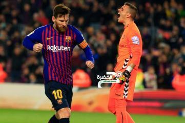 برشلونة يتغلب على بلد الوليد بهدف ليونيل ميسي 24