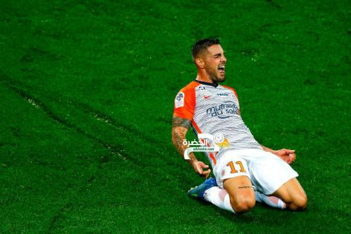 الجزائري ديلورت هداف ويقود مونبيليه لفوز مثير على باريس سان جيرمان 24