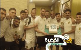 بالصور .. العناصر الوطنية تحتفل بعيد ميلاد مهاجم الخضر اسلام سليماني 26