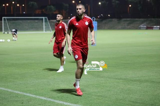 بالصور .. الخضر يجرون آخر حصة تدربيبة لهم ضمن التربص التحضيري بقطر 29
