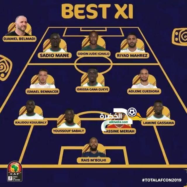 بلماضي و 4 لاعبين جزائريين في التشكيلة المثالية لكاس امم افريقيا 2019 25