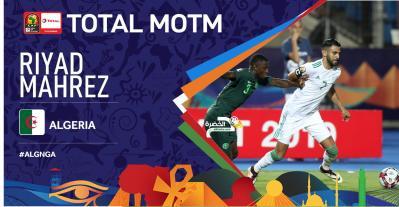 رياض محرز رجل مباراة الجزائر ونيجيربا 28