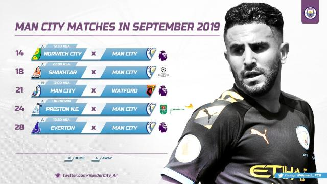 برنامج | مباريات مان سيتي في شهر سبتمبر 2019 25