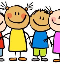 cartoon little kids happy clipart 7 [ 3103 x 2062 Pixel ]