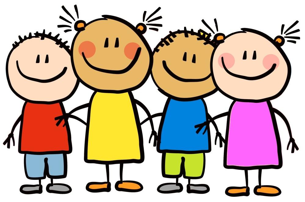 medium resolution of cartoon little kids happy clipart 7