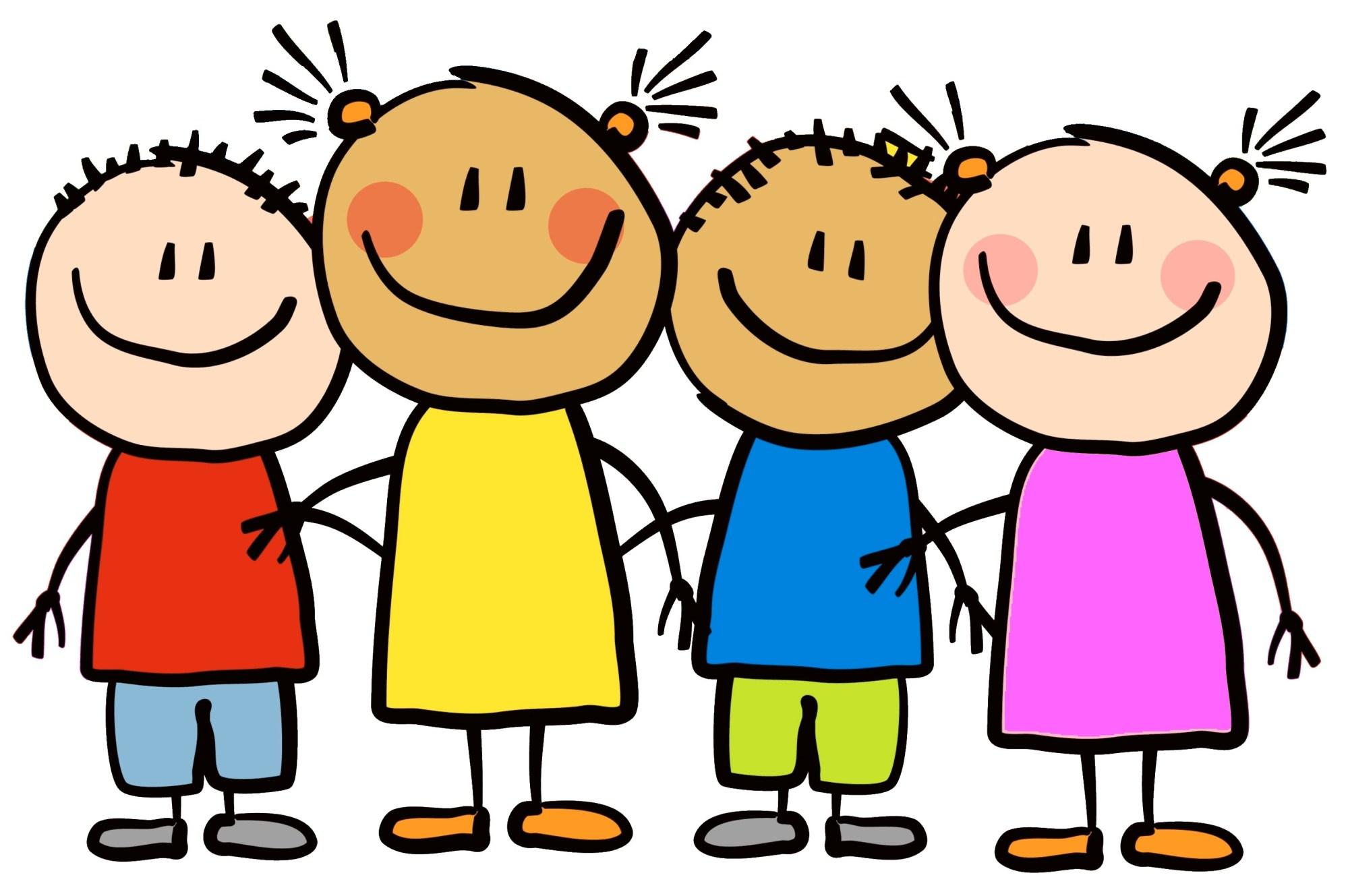 hight resolution of cartoon little kids happy clipart 7