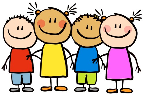 small resolution of cartoon little kids happy clipart 7