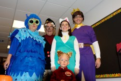 Daniel Tiger and his friends, O the Owl, Grandpere, Katerina Kittycat and Prince Wednesday