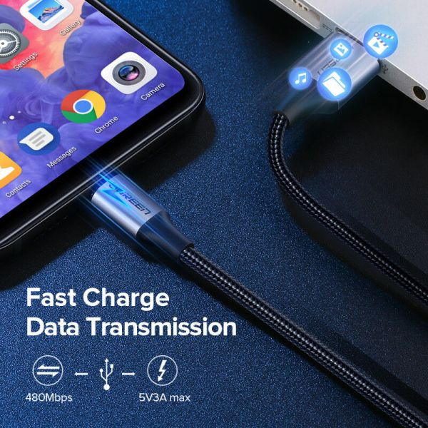 Ugreen USB til USB-C kabel 3A Fast Charge Cable 0,5m Ugreen USBc02