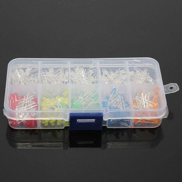 300 stk 3mm Lysdiode / Led light 10 forskjellige typer lysdiode2