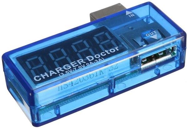 USB voltmeter ampermeter 3.5V-7V 0A-3A USB Charger Voltage Current Meter Mobile Tester Amper Voltmeter Power Detector Charge doctor Chargerdoctor03