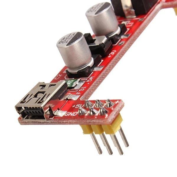5V/3.3V spenningsmodul Breadboard Power Supply Module 5V/3.3V For Arduino SKU146967d