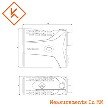 Kahles Helia RF-M Monocular Rangefinder - Measurements.