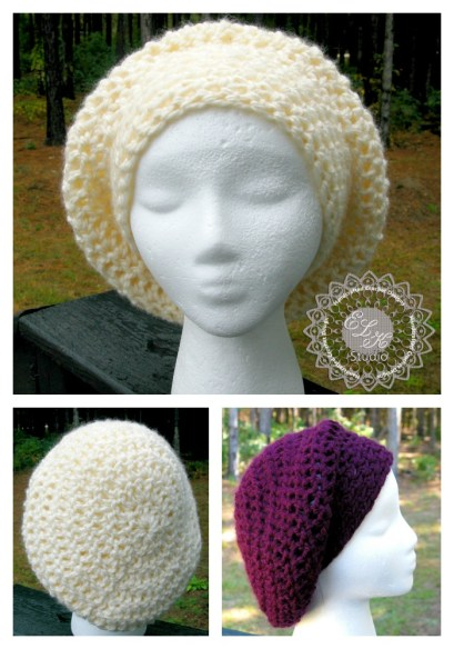 Incredibly Simple Slouchy Free hat pattern by ELK Studio