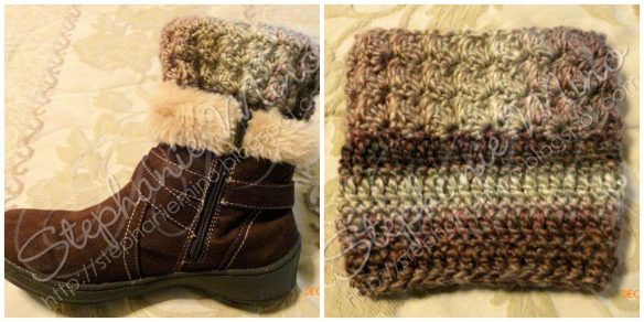 Ripple Stitch Boot Cuffs by Stephanie Making it thru Monday submission
