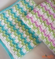 Moogyly -Stripes-and-Blocks-Blanket-Pair