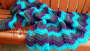 Hatch-ed with Love Beehive Ripple Blanket