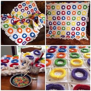 Fruity Loops Blanket by Knot Sew Cute