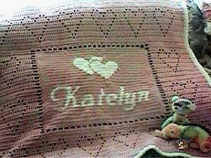 katelyn personalized Afghan by Kim Guzman