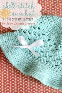 Crochet Shell Stitch Summer Hat by Daisy Cotton Designs