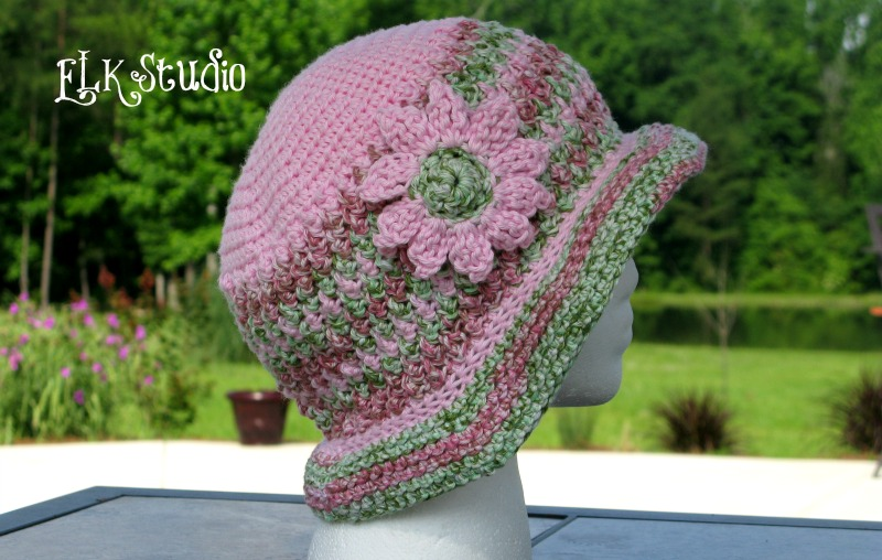 Honeysuckel - A Free Summer Crochet Hat Pattern by ELK Studio